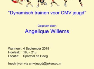 Clinic voor CMV trainers op 4 september
