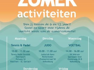 Start trainingen en zomeractiviteit